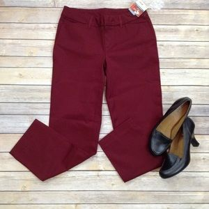 Faded Glory burgundy pocketed ankle pants